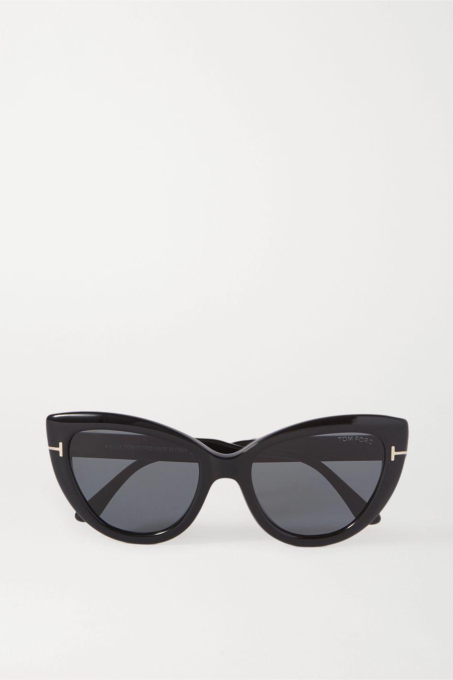 TOM FORD Anya cat-eye acetate and gold-tone sunglasses