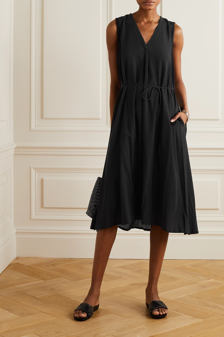 Vince Cotton-voile midi dress