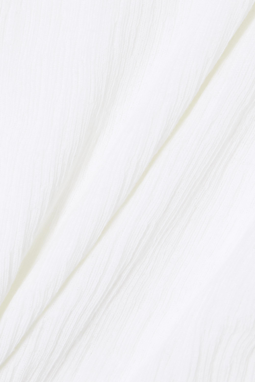 Vince T-Shirt aus plissiertem Baumwollkrepon