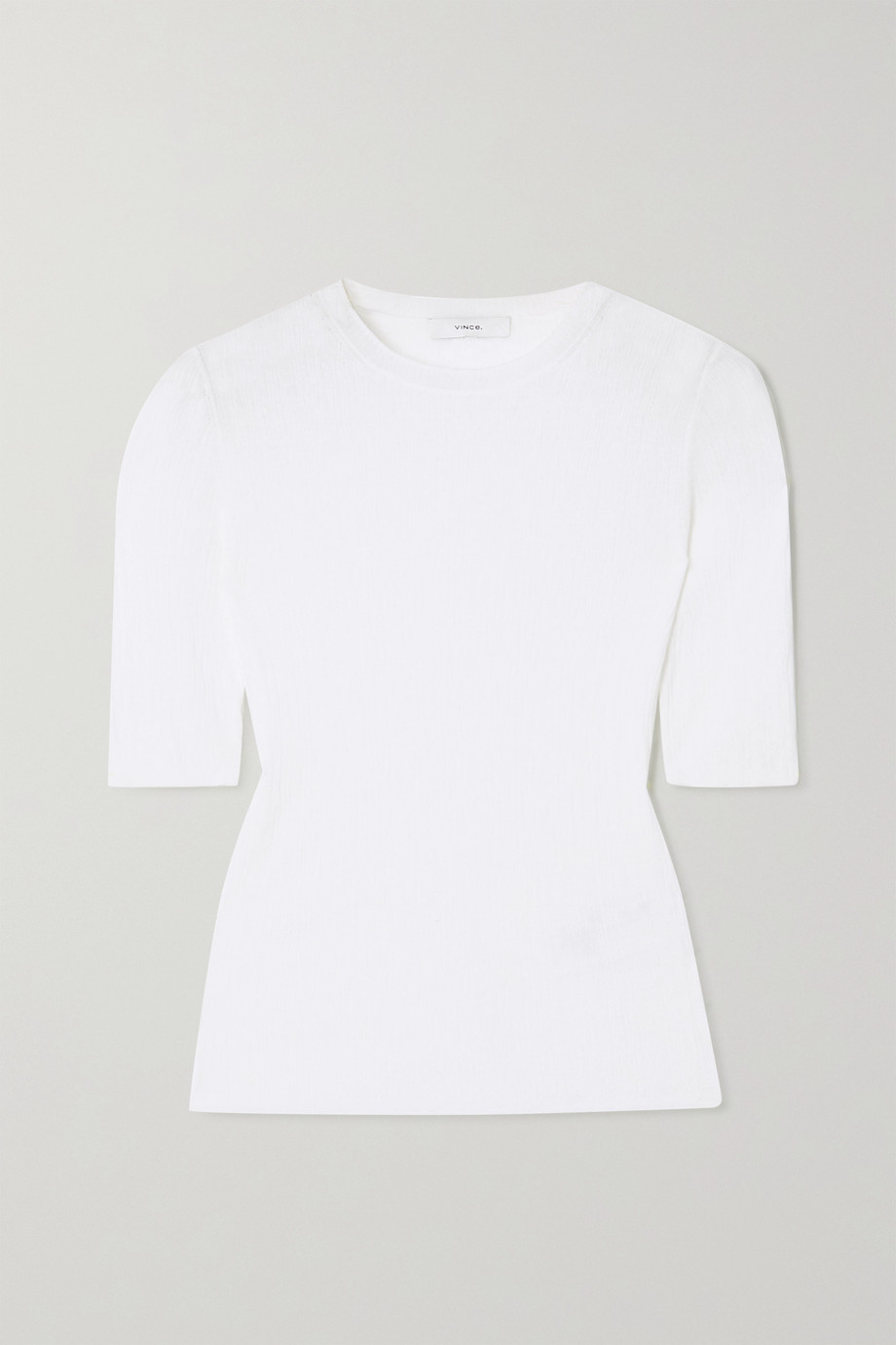 Vince Plissé cotton-crepon T-shirt