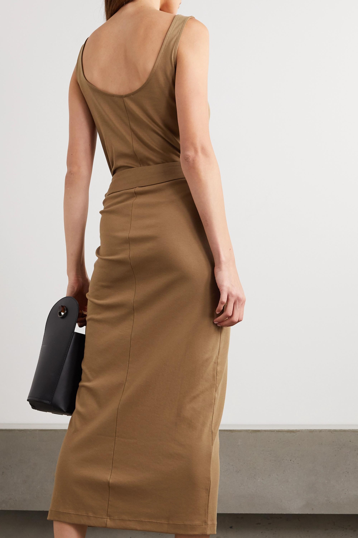 Vince Midi-Wickelkleid aus Pima-Baumwoll-Jersey