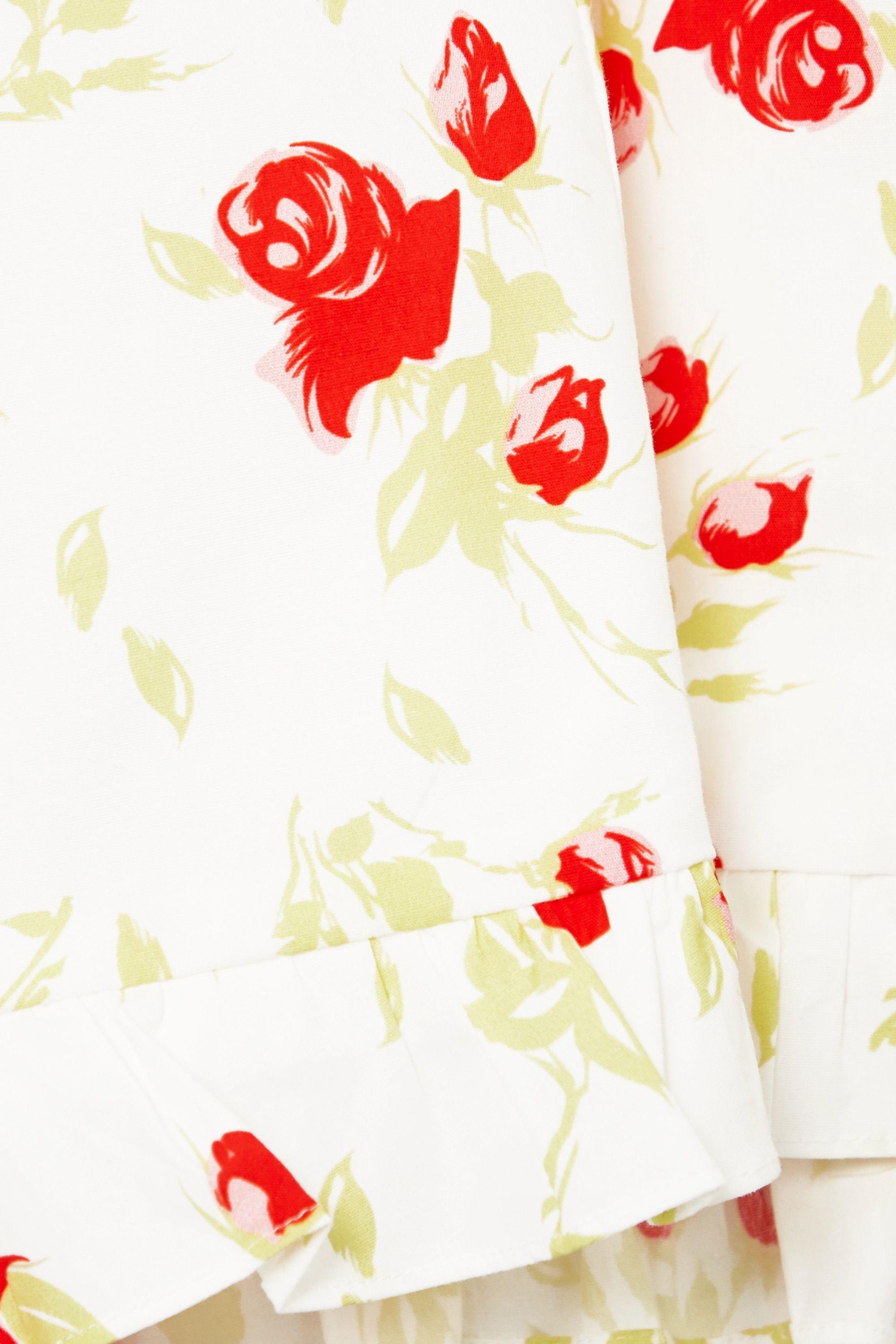 De La Vali Koko Minikleid aus Popeline aus einer Baumwollmischung mit Blumenprint