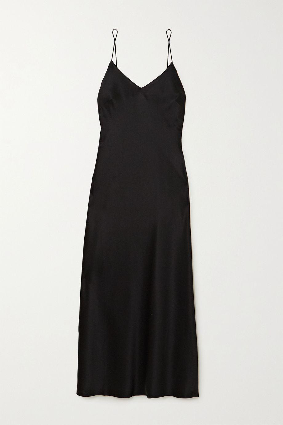 Anine Bing Rosemary silk-charmeuse midi dress