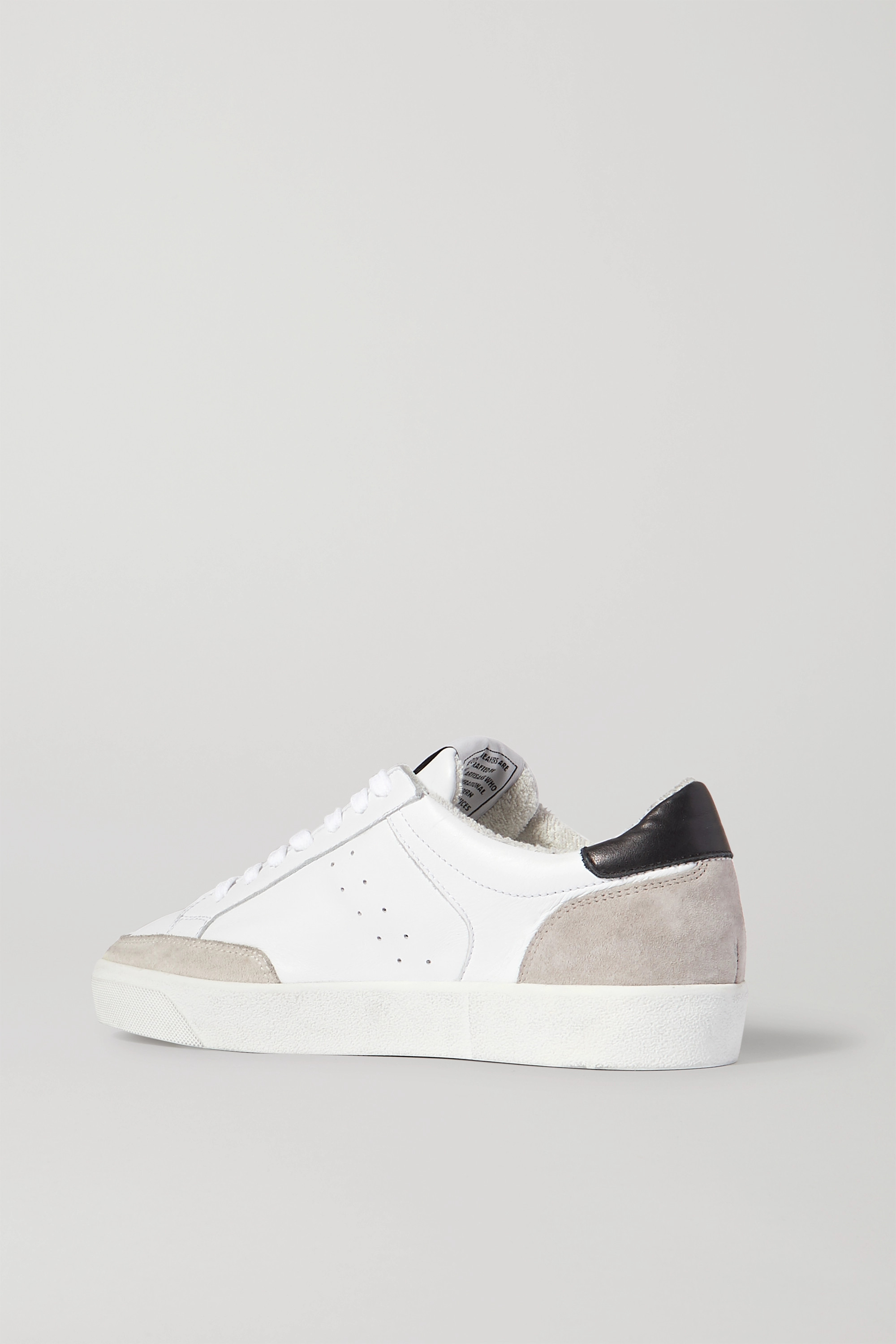 RE/DONE 90s Skate leather and distressed suede sneakers