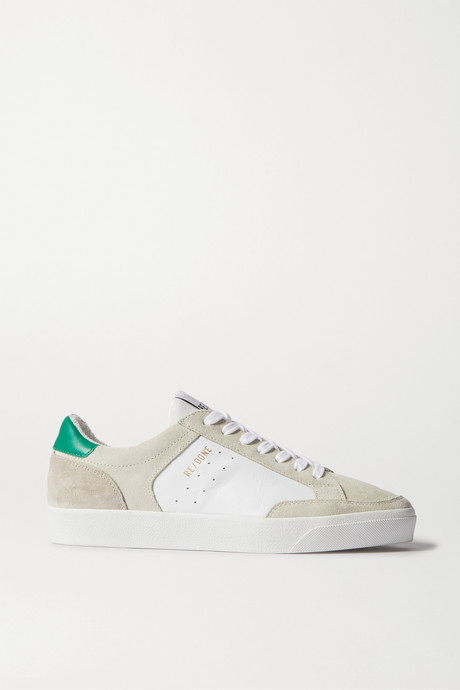 White 90s Skate suede and leather sneakers | RE/DONE sTvhJR