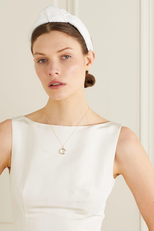 Eugenia Kim Maryn sequin-embellished tulle and satin headband