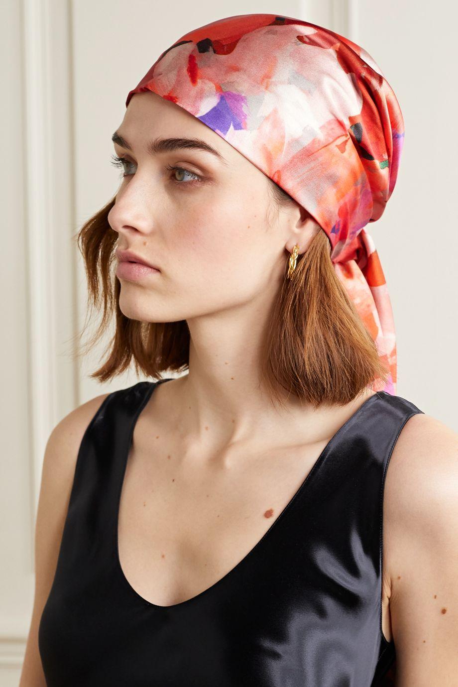 Eugenia Kim Gigi floral-print satin-twill turban