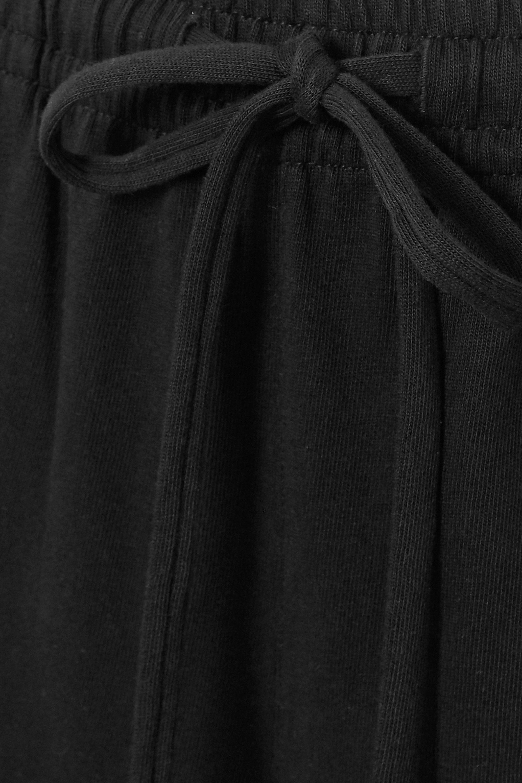 Vince Cropped cotton-jersey wide-leg pants