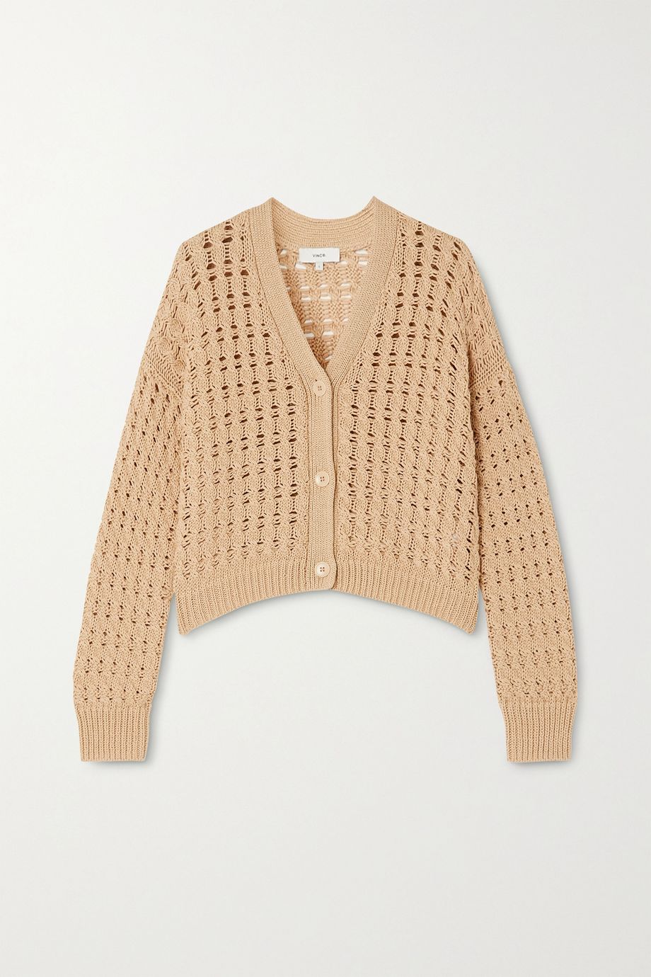 Vince Cable-knit cotton cardigan