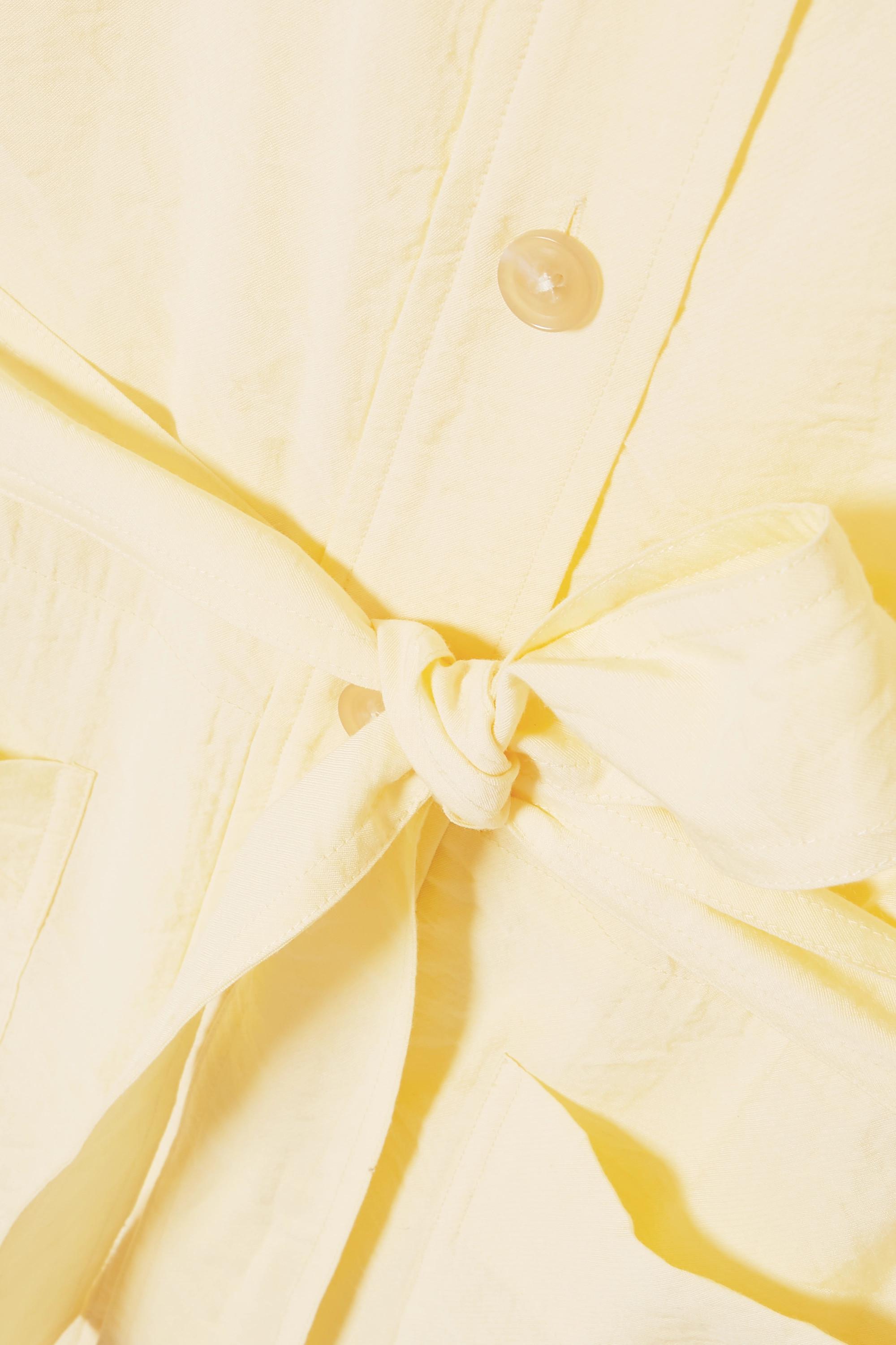 Vince Belted crepe de chine shirt dress