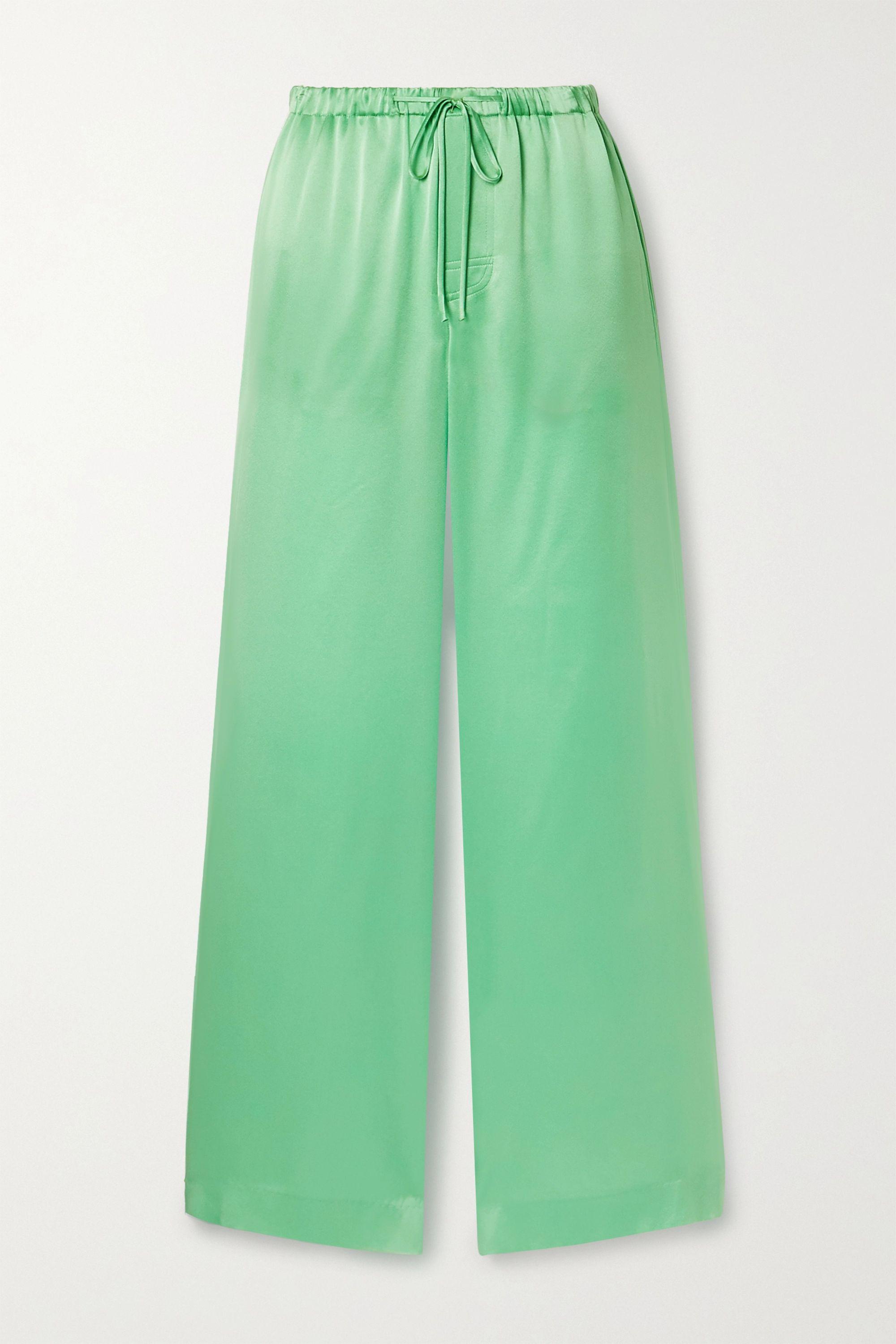 Vince Silk-satin wide-leg pants