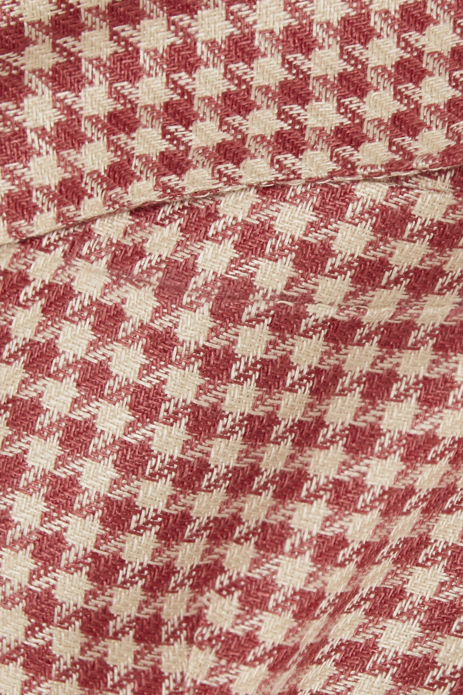 Giuliva Heritage The Ginestra houndstooth linen blazer