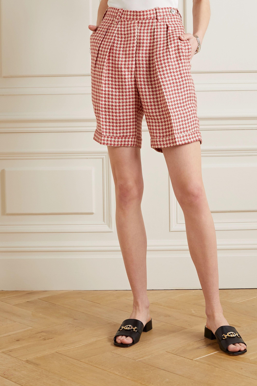 Giuliva Heritage The Alana houndstooth linen shorts