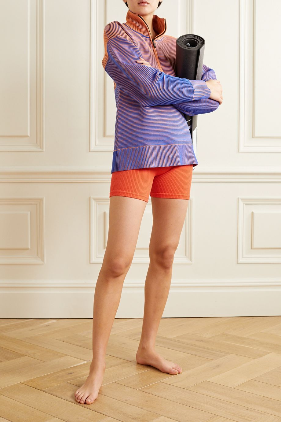 Nagnata Balati ribbed technical stretch-knit shorts