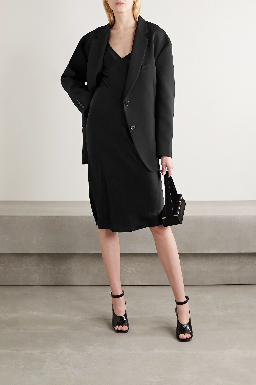 L'Agence Jodie silk-satin midi dress