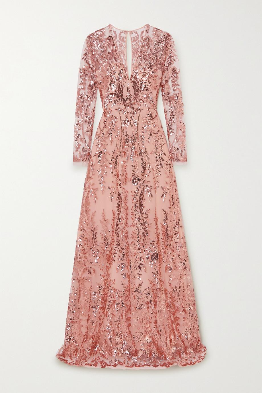 Naeem Khan Sequin-embellished tulle gown