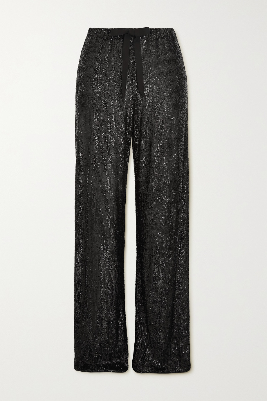 Naeem Khan Sequined tulle wide-leg pants