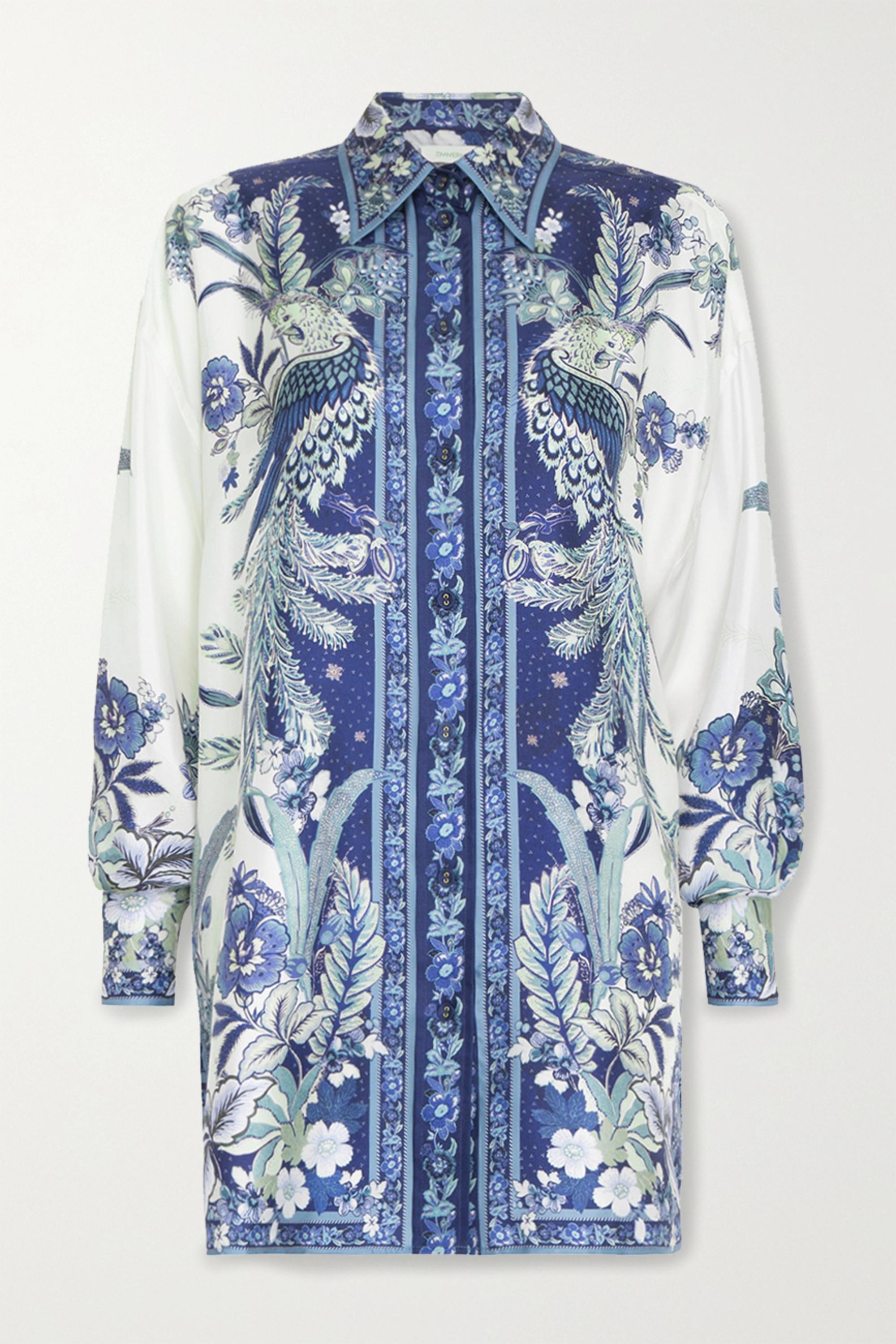 Zimmermann Glassy printed silk shirt