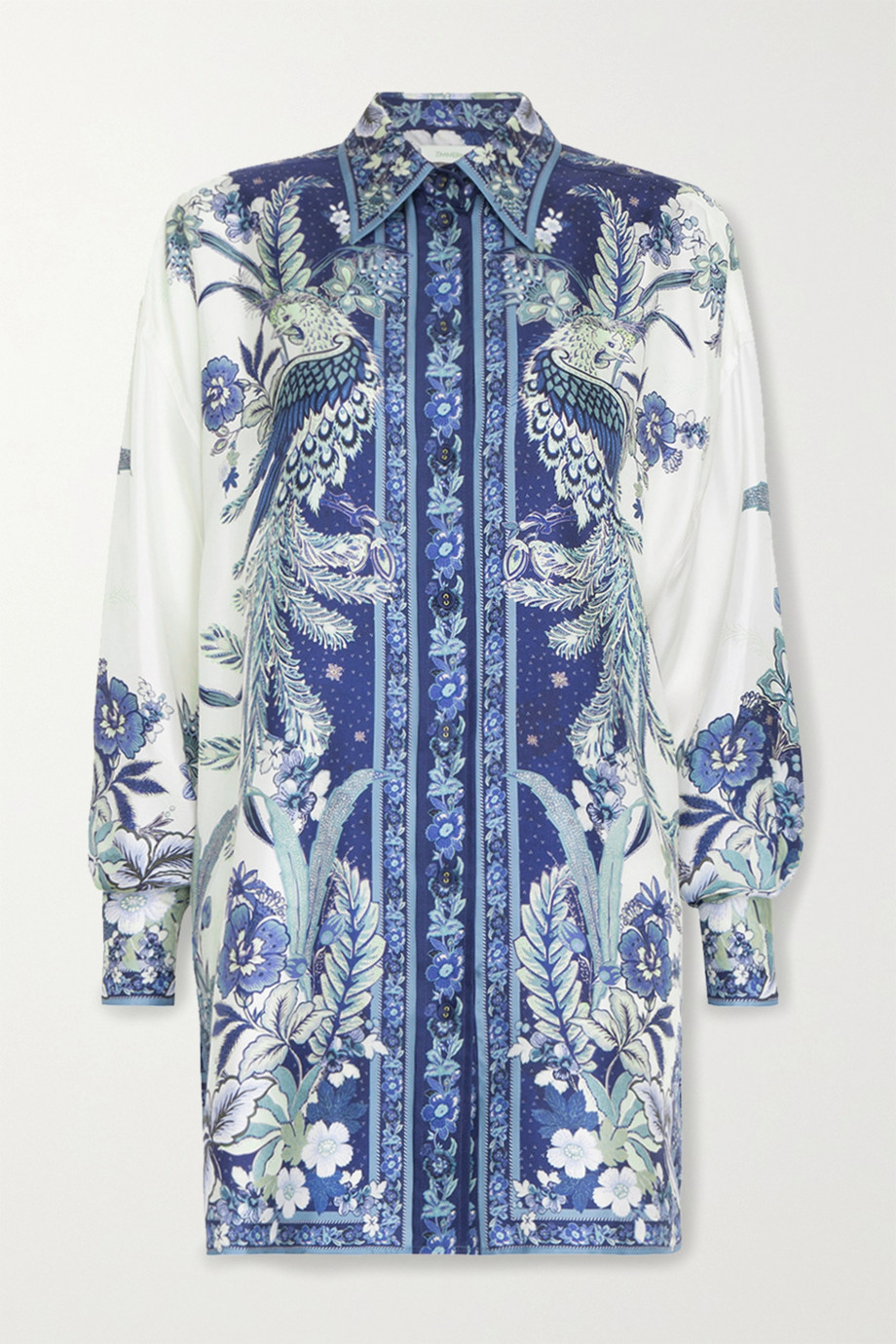 Zimmermann Glassy printed silk shirt