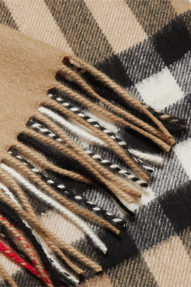 Burberry Accessories Checked cashmere scarf