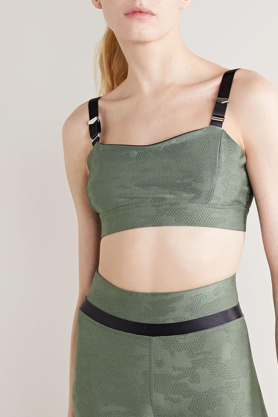 Heroine Sport Suspend stretch-jacquard sports bra