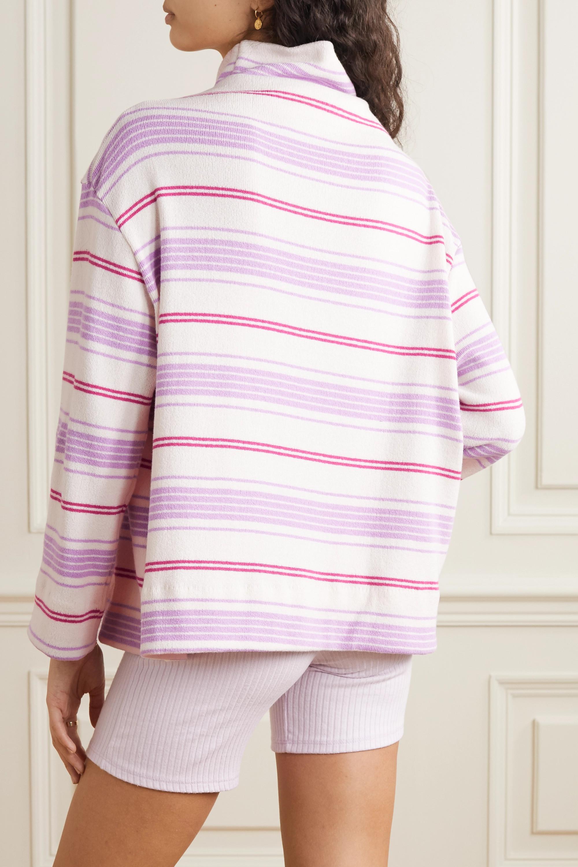 Henry oversized striped bouclé turtleneck sweater