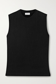 LESET Lori brushed stretch-jersey tank