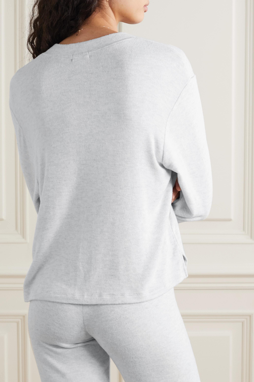 LESET Lori brushed stretch-jersey top