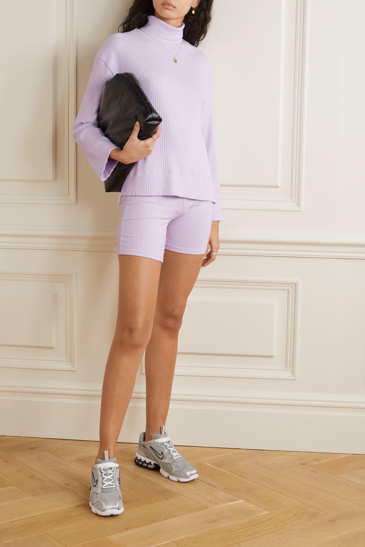 LESET Alison oversized ribbed stretch-knit turtleneck sweater