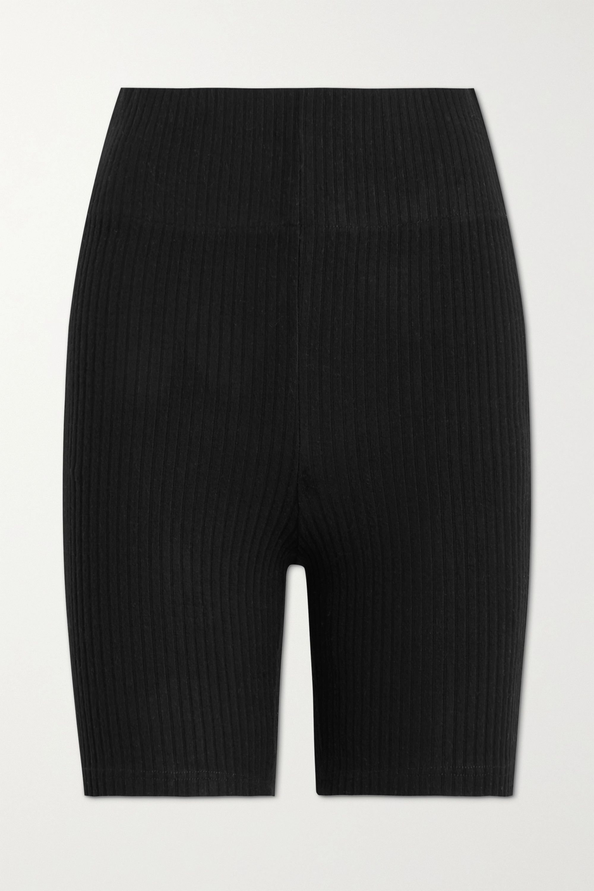 LESET Alison ribbed stretch-knit shorts