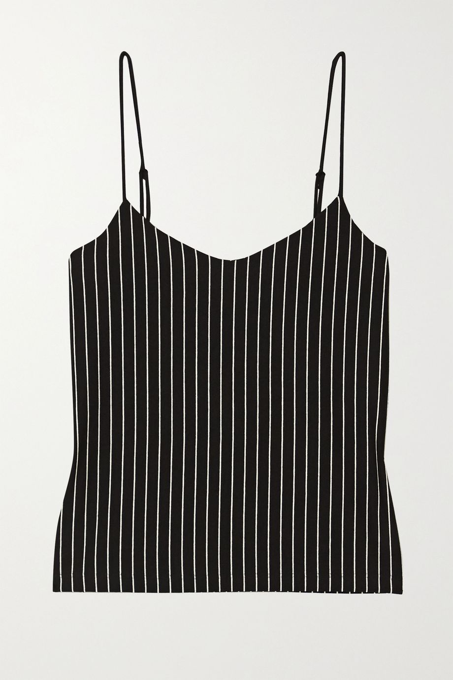 LESET Amber pinstriped stretch-jersey camisole