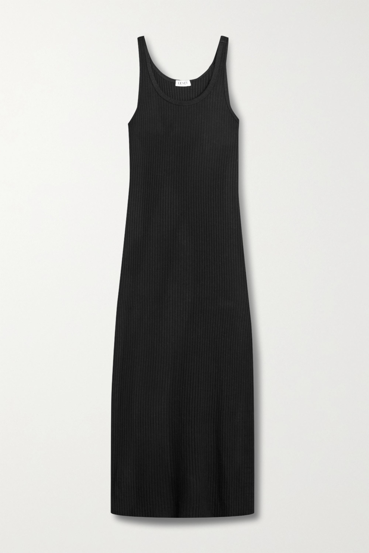 LESET Alison ribbed-knit midi dress