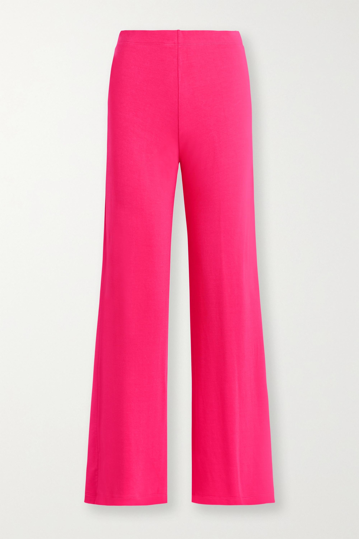 LESET Strech-terry wide-leg pants