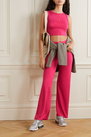 LESET Strech-terry wide-leg pants