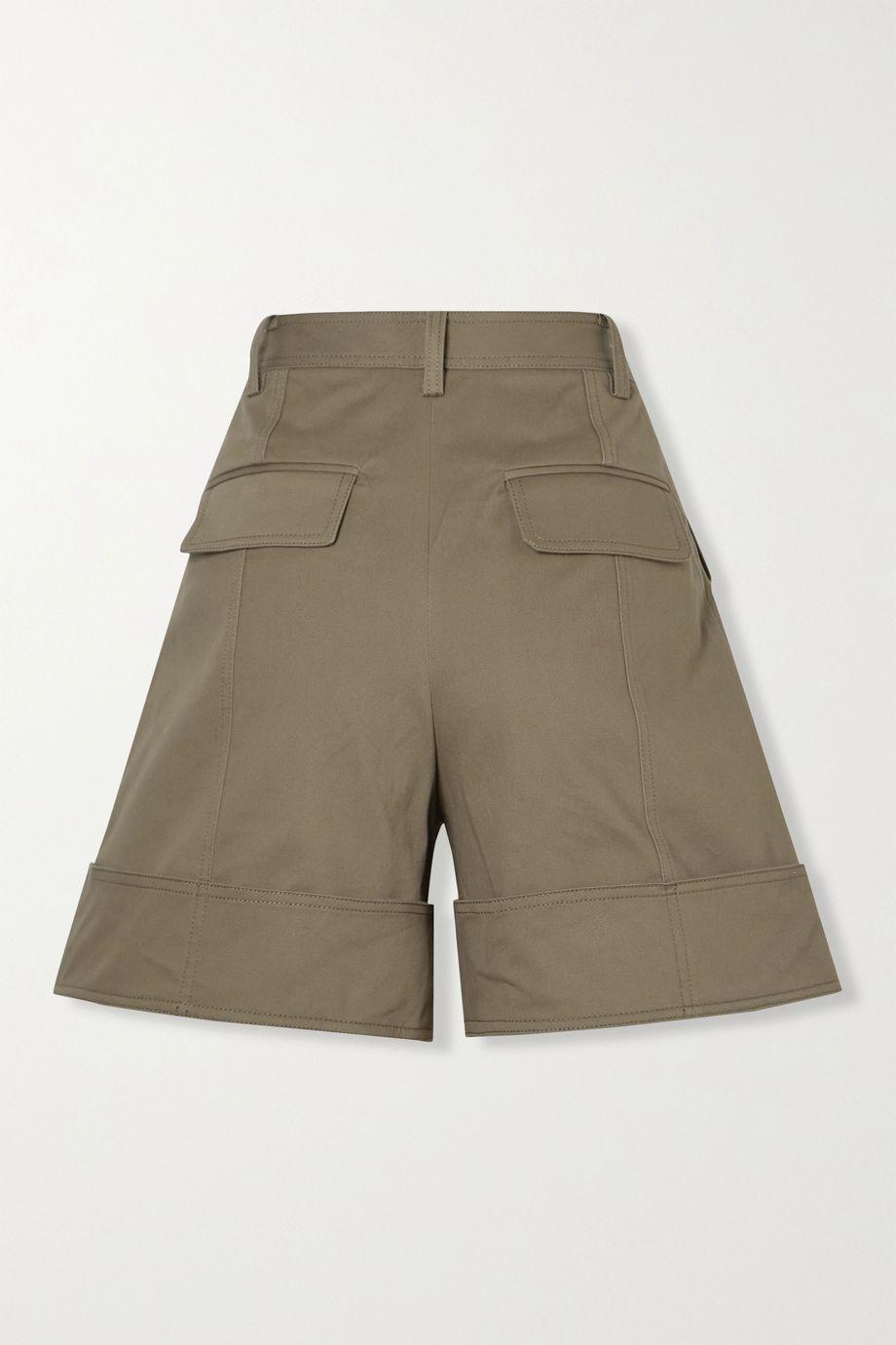 Tibi Myriam cotton-blend twill shorts
