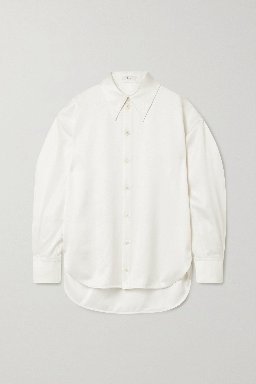 Tibi Celia oversized satin blouse