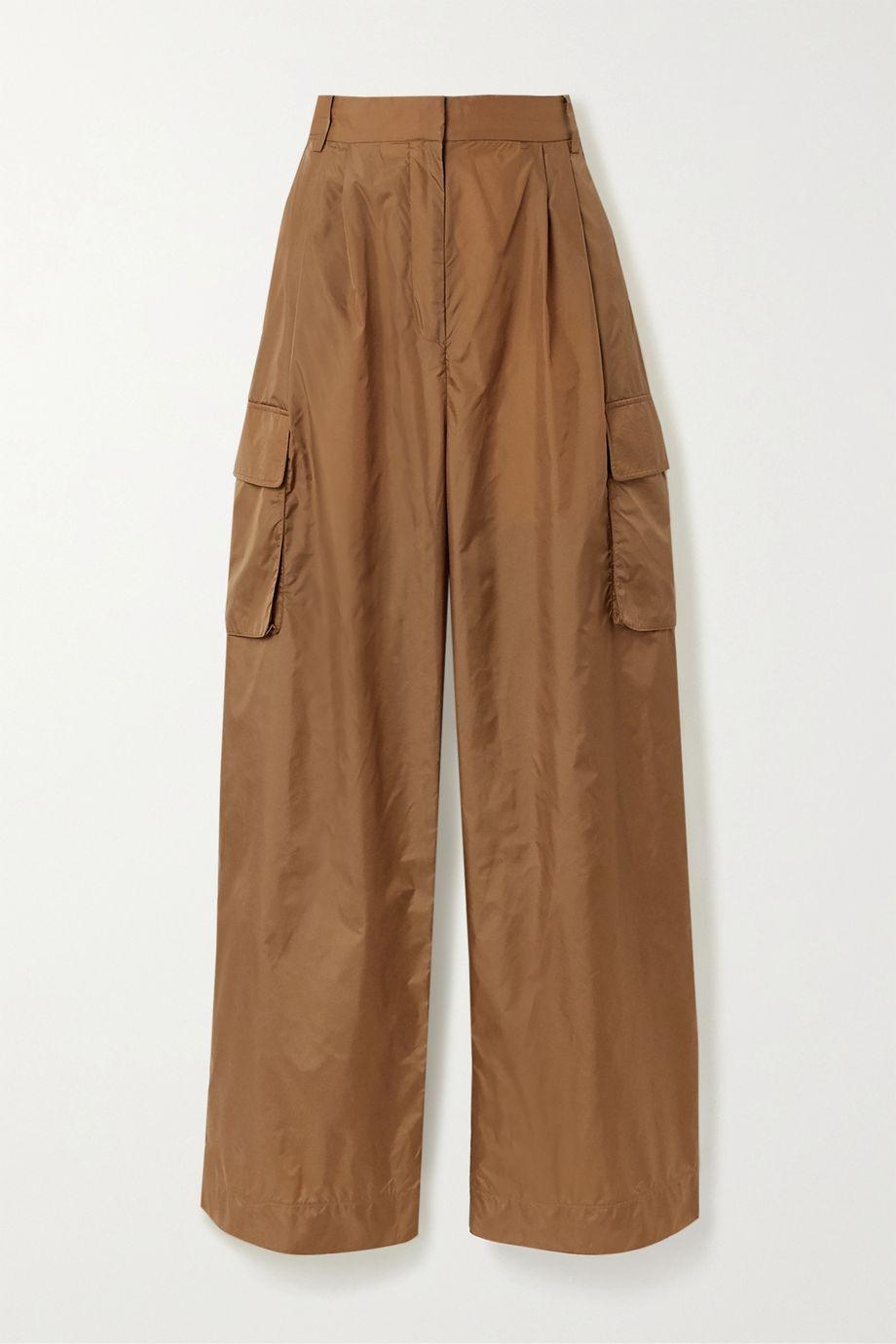 Tibi Pleated shell wide-leg cargo pants