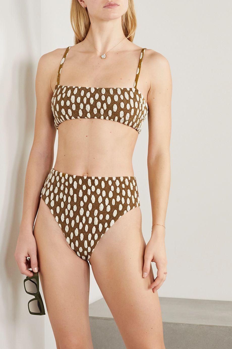 Mara Hoffman Imina jacquard bikini briefs