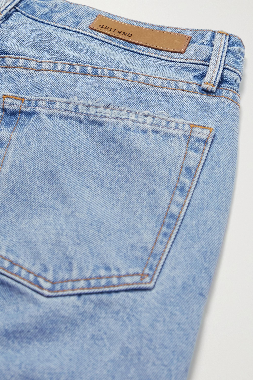 GRLFRND Karolina frayed high-rise skinny jeans
