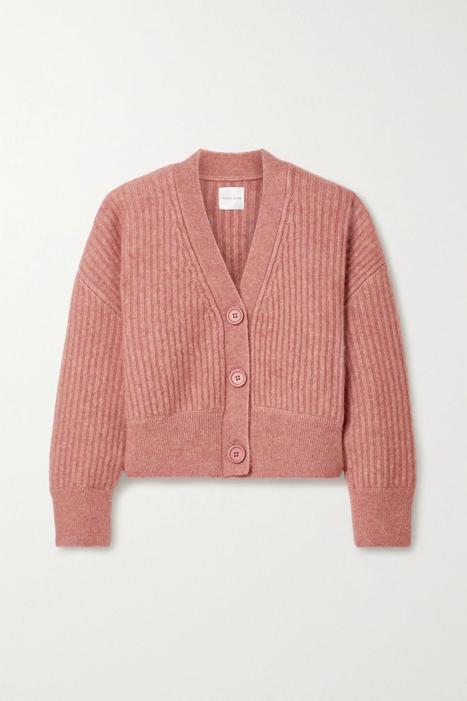 Anine Bing Maxwell 罗纹针织开襟衫