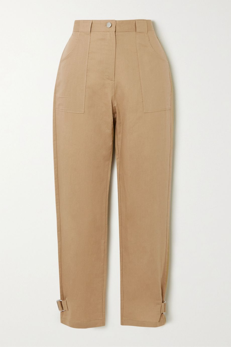 The Range Cropped linen and cotton-blend twill straight-leg pants