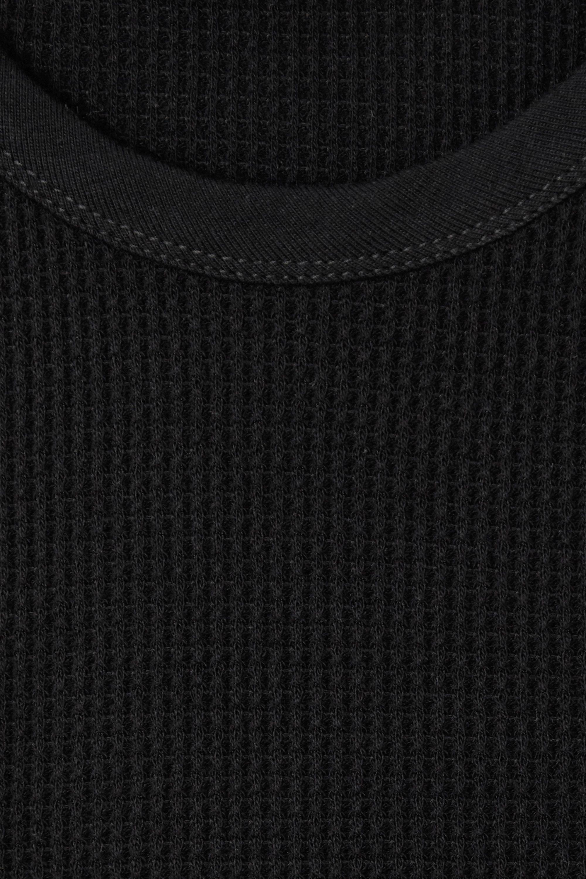 The Range Gathered waffle-knit stretch-cotton tank