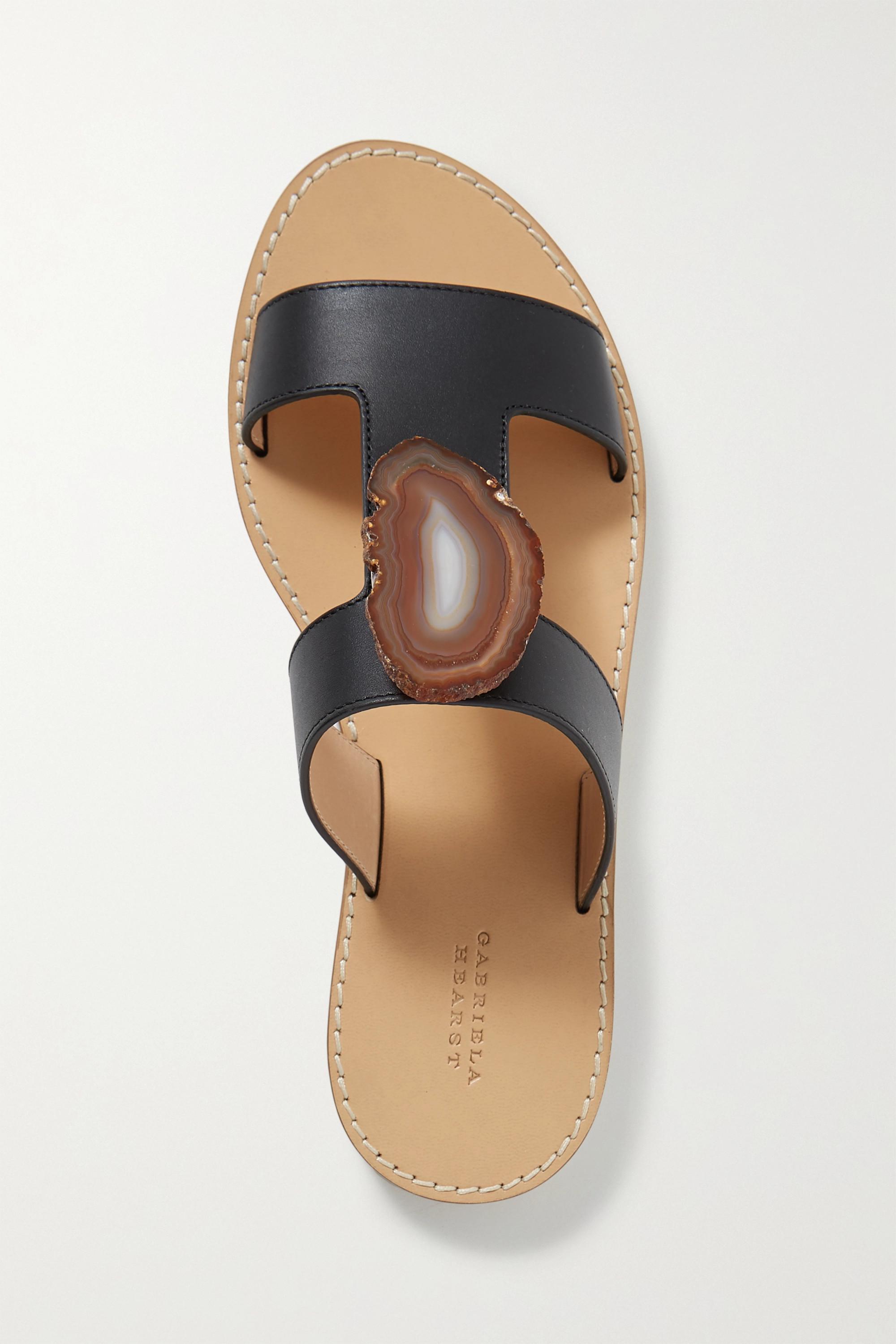 Gabriela Hearst Hades embellished cutout leather sandals