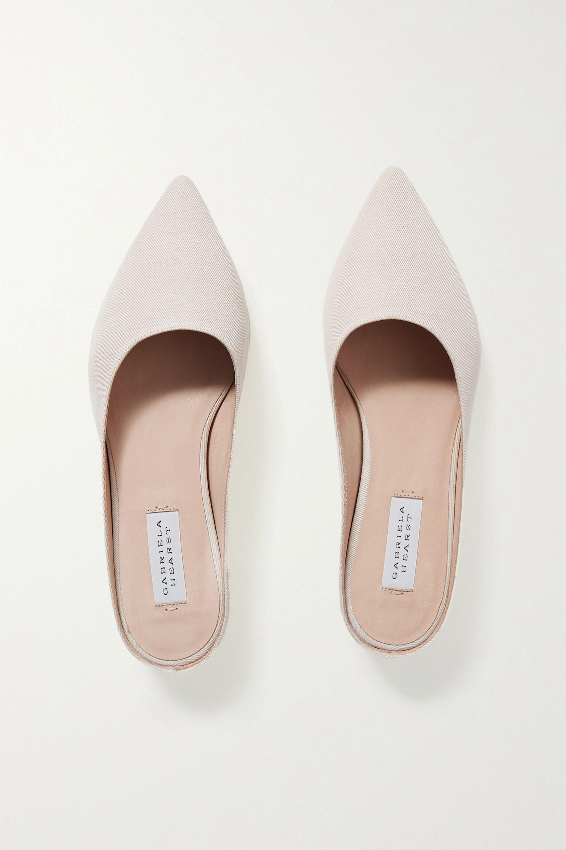 Gabriela Hearst Martin linen slippers