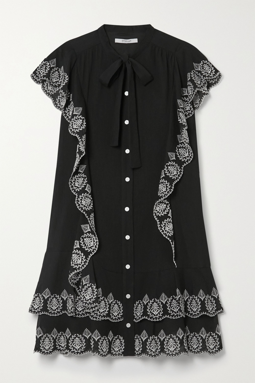 Derek Lam 10 Crosby Kalia ruffled embroidered cotton-voile mini dress