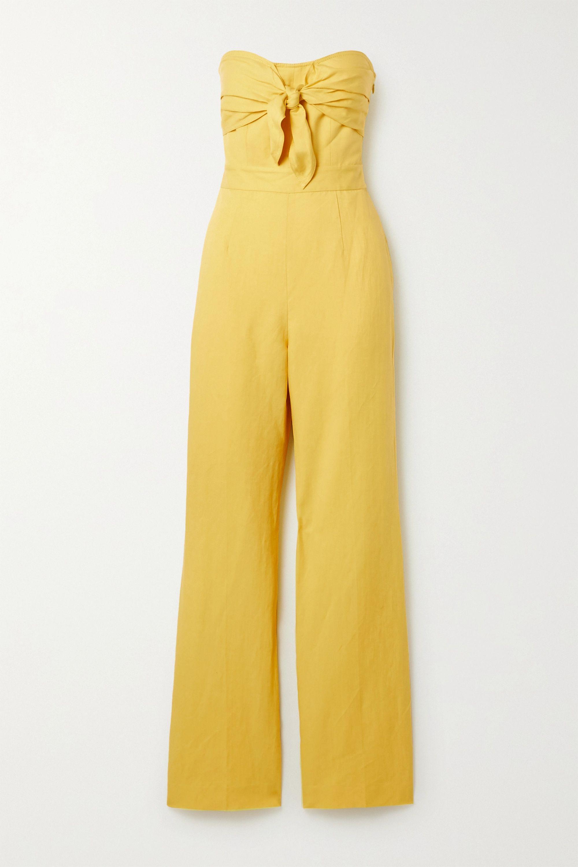 Derek Lam 10 Crosby Alene strapless linen, Lyocell and cotton-blend twill jumpsuit