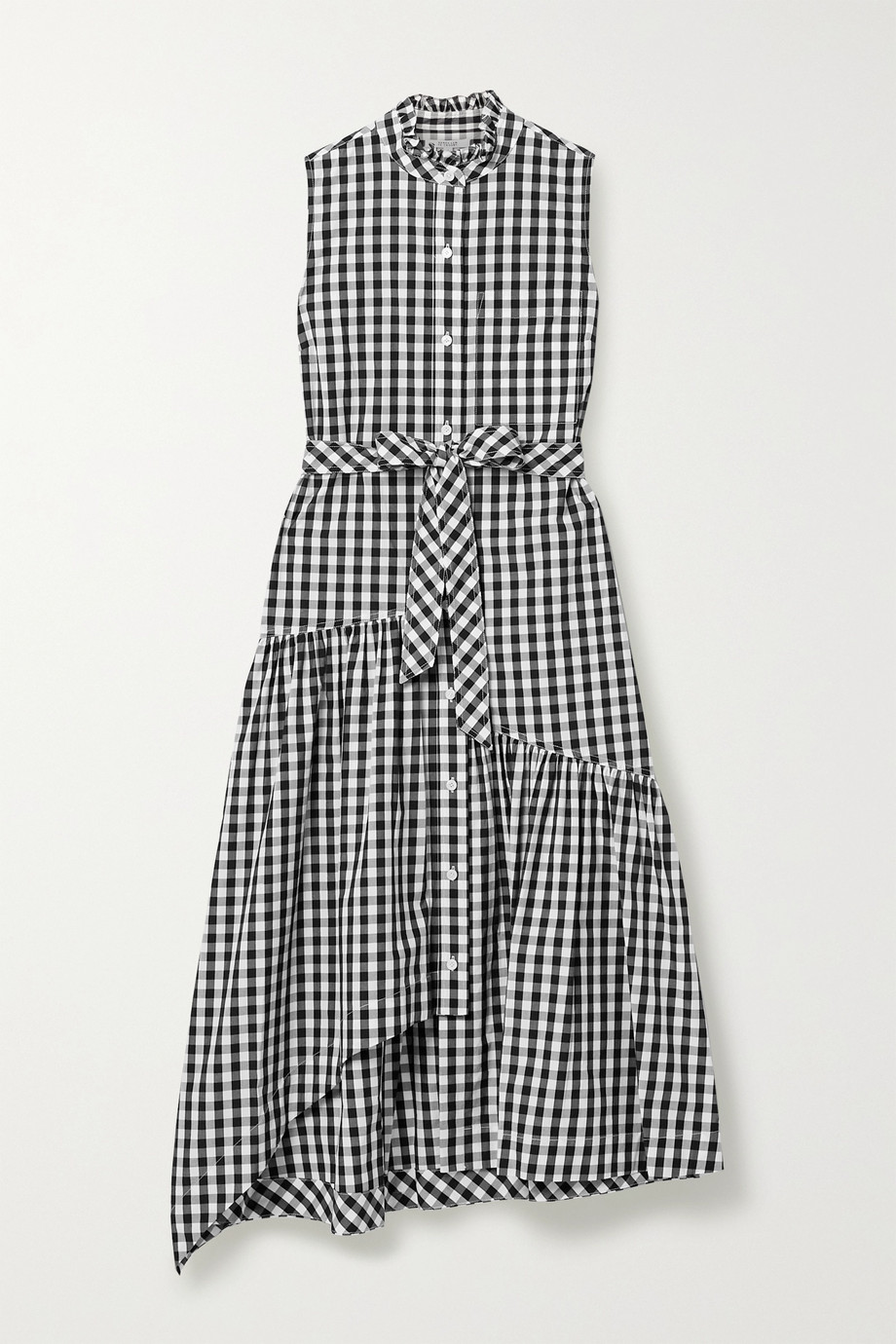 10 Crosby by Derek Lam Nerioa belted gingham cotton-poplin midi dress