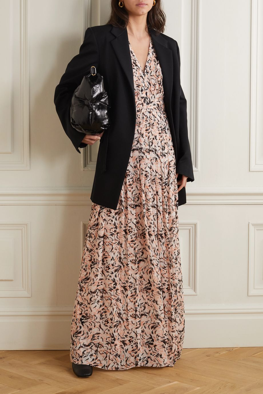Proenza Schouler Pleated printed chiffon maxi dress