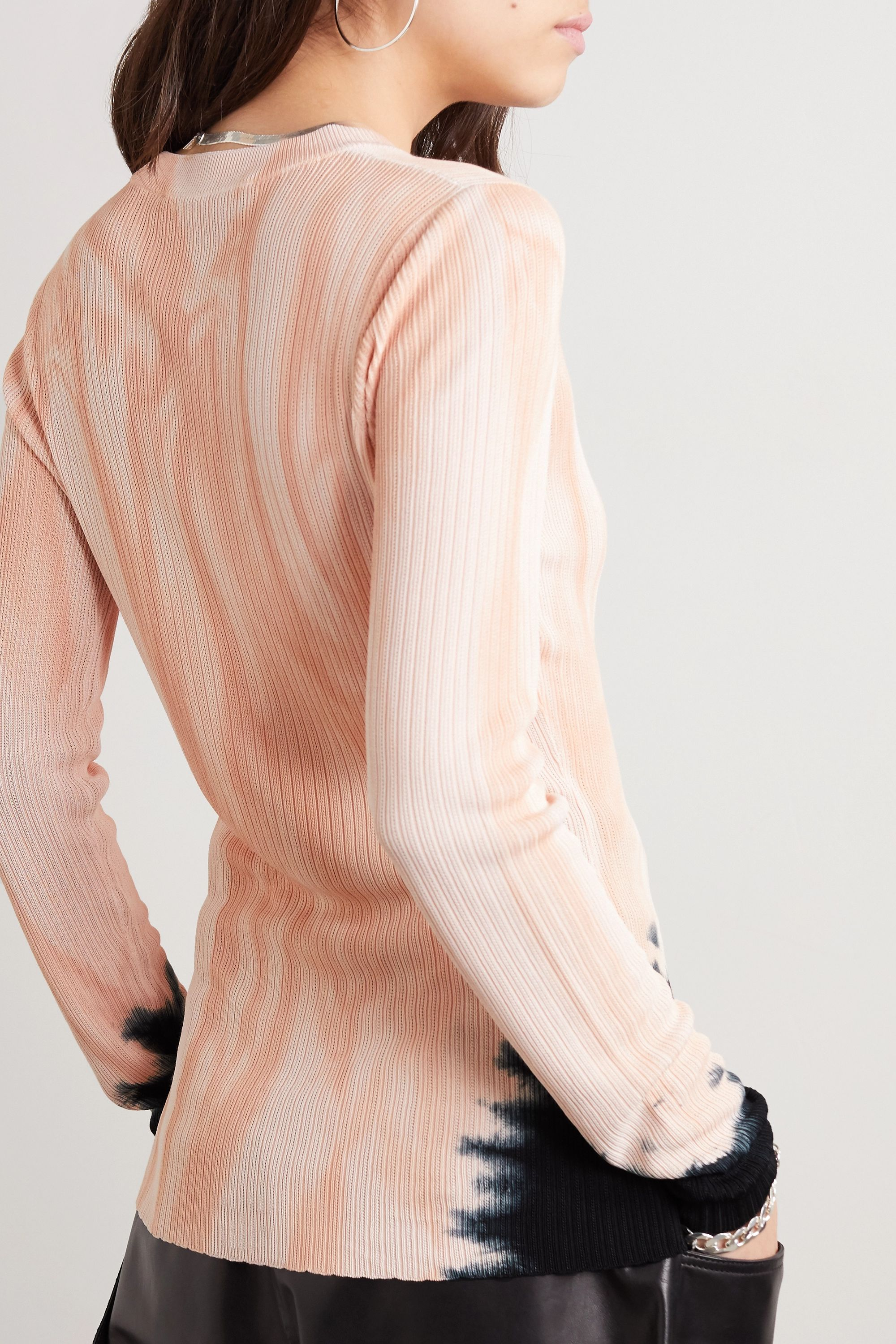Proenza Schouler Tie-dyed ribbed-knit sweater