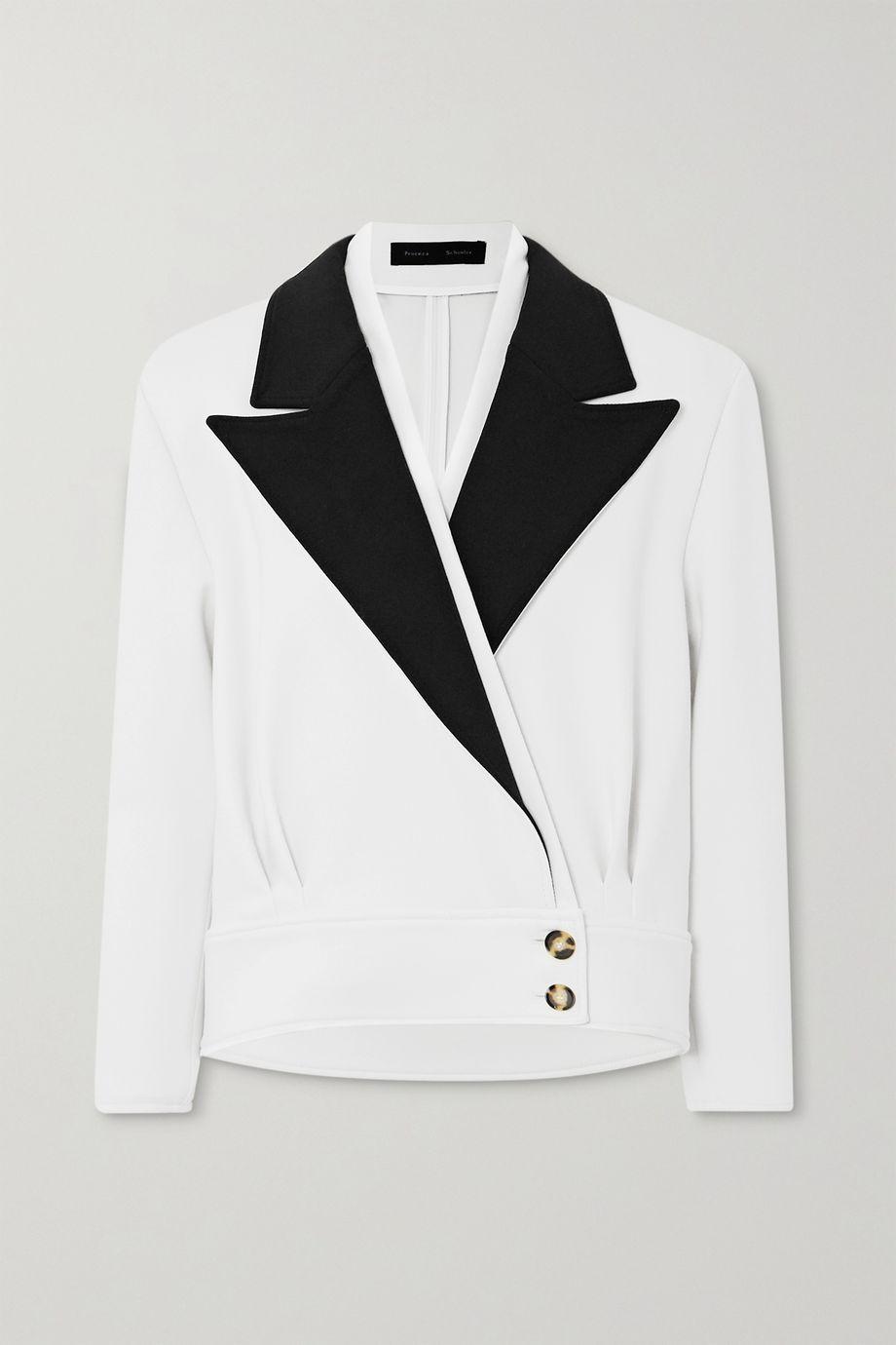 Proenza Schouler Two-tone wool-blend blazer